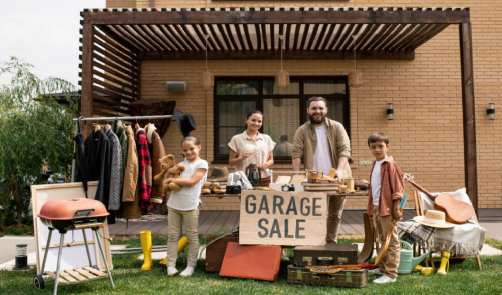 Organizing a garage sale can be a fun family activity, or very stressful.